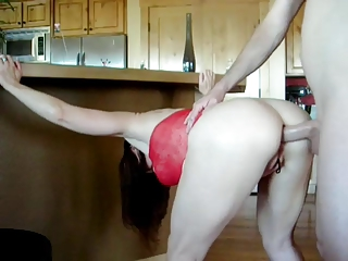 sexy mature in red suit acquires screwed in her