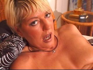 older blonde enjoys her own body - dbm video