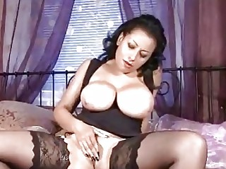 huge melons on mature in nylons wanking pussy