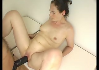 huge darksome strapon - check the creamy ring!