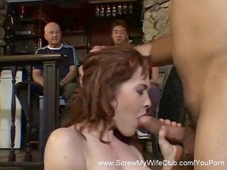 redhead wife gets screwed, ok with hubby!