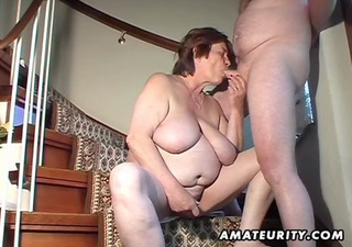 plump dilettante wife toys and sucks and gets