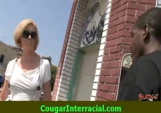 interracial sex - hawt cougar mother i receives