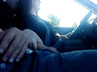 wife jacking boy off while driving