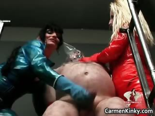 two sexy horny hot body latex d like to fuck