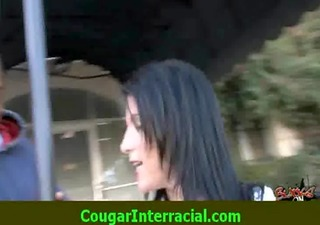 interracial sex - sexy cougar d like to fuck gets