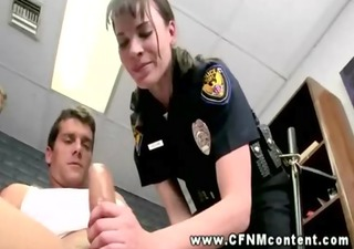 cfnm sluts show the force of the law to their