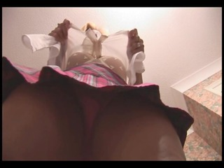 breasty older golden-haired upskirt and panties