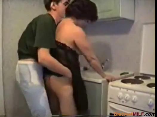 mamma drilled in her kitchen