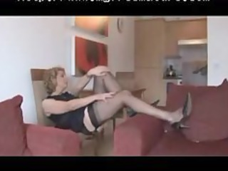 granny fully fashioned nylons and lingerie strip