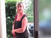blonde mommy shows sexy mature body