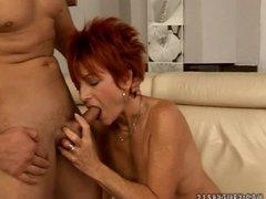 sexy euro redhead granny