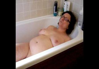 sam takes a bath