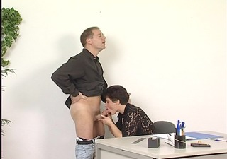 sexy secretary craves to eat cum