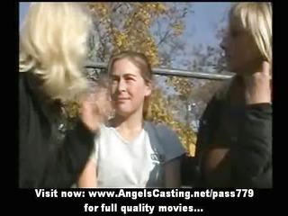amazingly hawt blonde lesbian babes undressing