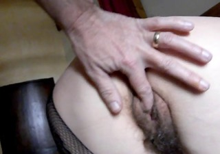 i caress my unshaved pussys wife