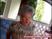 youthful stud fucking old obese granny