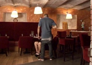 sex au resto, group sex of a french older in a