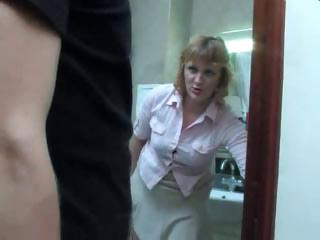 mature mama takes a piss on the crap-house and