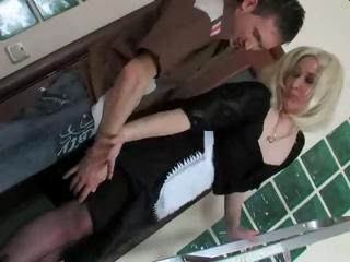 blonde russian mature mom and boy
