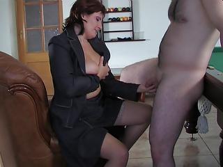 russian mama viola copulates young guy
