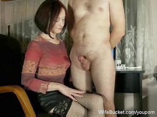milf wife gives mean handjobs