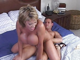 older woman with big billibongs having hardcore