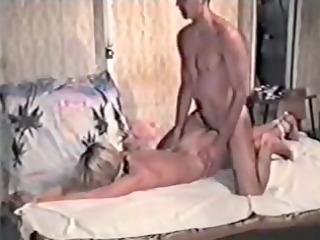 blonde in amateur homemade bdsm tape