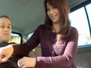 japanese mother i gives handjob on backseat of car