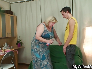 huge granny is banged by her sons ally
