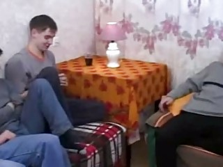 real russian mommy fucks her sons friends