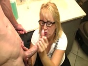 mature non-professional wanting facial during the