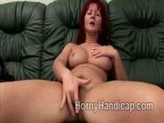 chubby mature redhead wench enjoys herself