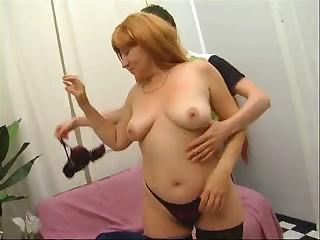 milf mom fucks a younger guys cock and gets her