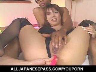 lewd japanese milf mei amasaki ass toyed