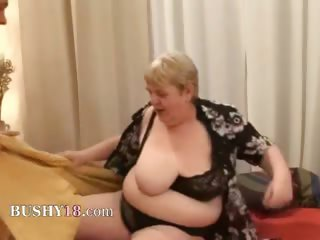 banging a obese old curly granny