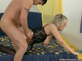 nasty mature woman receives screwed hard from