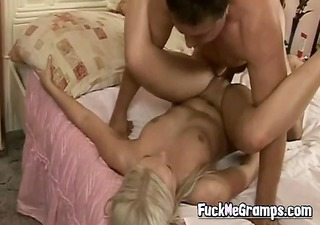 horny old guy fuck hawt blond