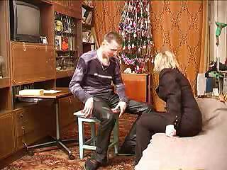 russian older female bonks her son`s most good
