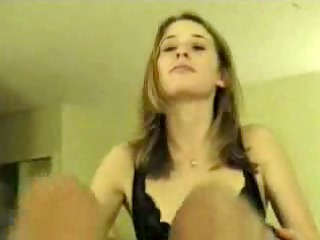 wife in black panties sucks and drinks anything