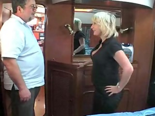 older british golden-haired fucking om a boat