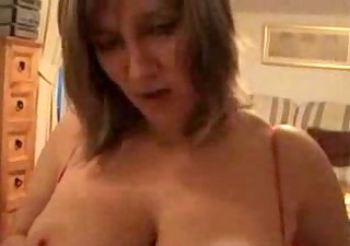 breasty british milf takes it is in the face !
