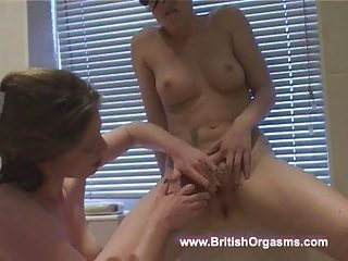 sexy milf acquires gal off in baths