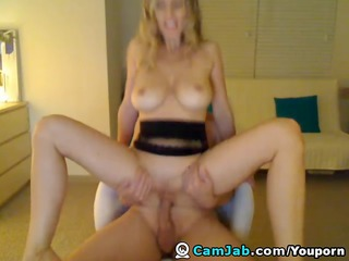 blond busty wife get home fucking and facial