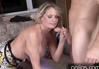 hot cougar seduces young chap