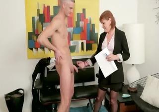 cfnm office milfs jerk off their nude co worker