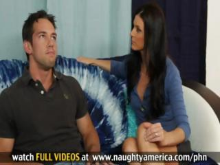 sexy brunette milf india summers takes his cock