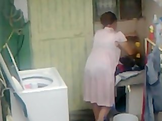spying aunty booty washing ... large butt chunky