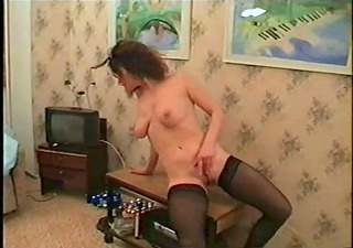 hot russian d like to fuck gives strip show and