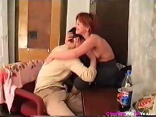 mature russian housewife blows his rod and then